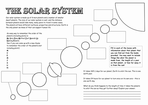 Solar System Worksheet Pdf Elegant the solar System by Tashs85 Teaching Resources Tes