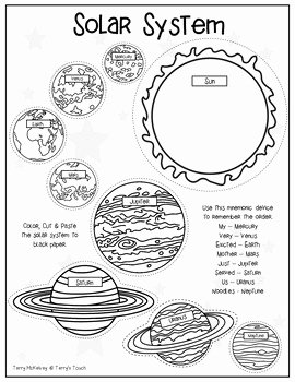 Solar System Worksheet Pdf Fresh solar System Cut & Paste by Terry S touch
