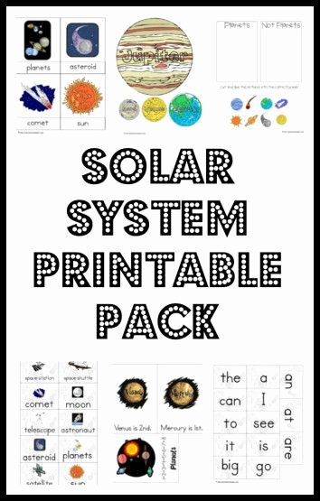 Solar System Worksheet Pdf Unique solar System Printable Pack