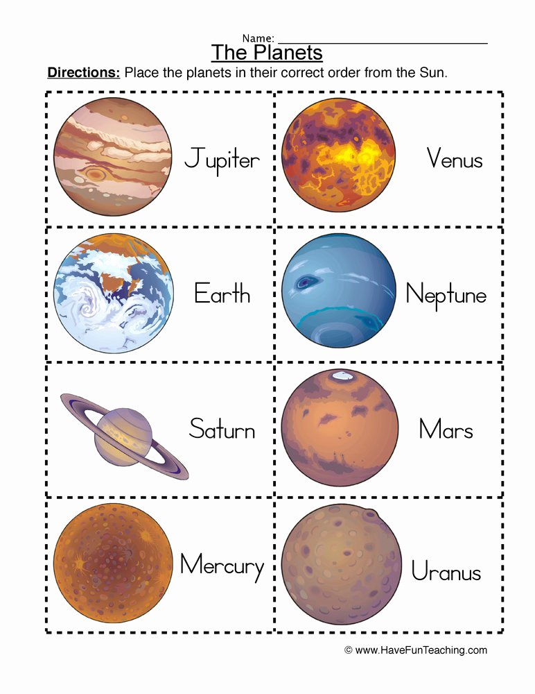 Solar System Worksheet Pdf Unique solar System Worksheet ordering Planets