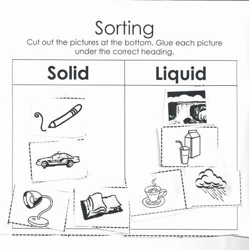 Solid Liquid Gas Worksheet Beautiful New 912 First Grade solid Liquid Gas Worksheet