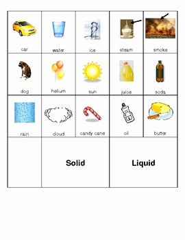 Solid Liquid Gas Worksheet Beautiful solid Liquid and Gas Picture sort by Kristen Campbell