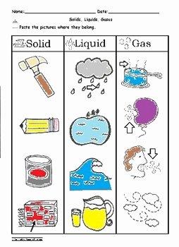 Solid Liquid Gas Worksheet Beautiful solid Liquid and Gas sorting Worksheet Science C Scope