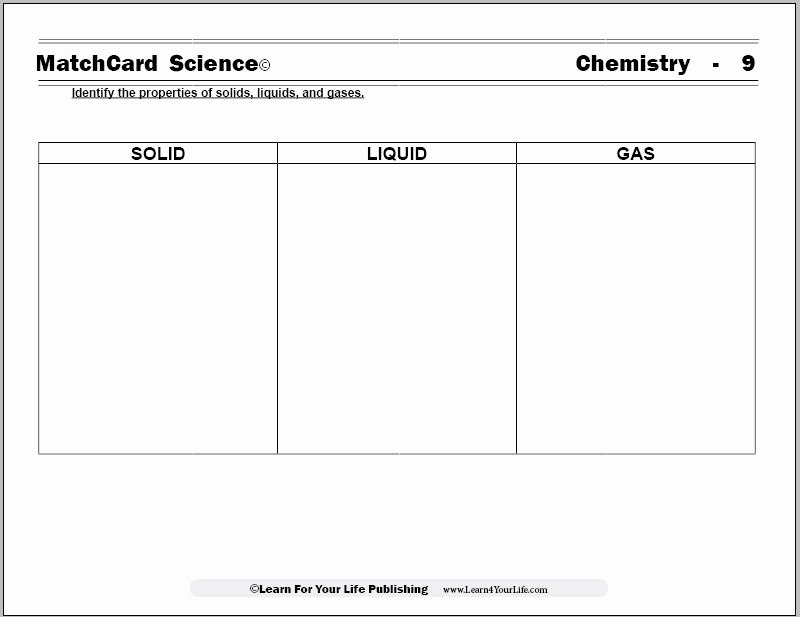 Solid Liquid Gas Worksheet Beautiful solid Liquid Gas Worksheet