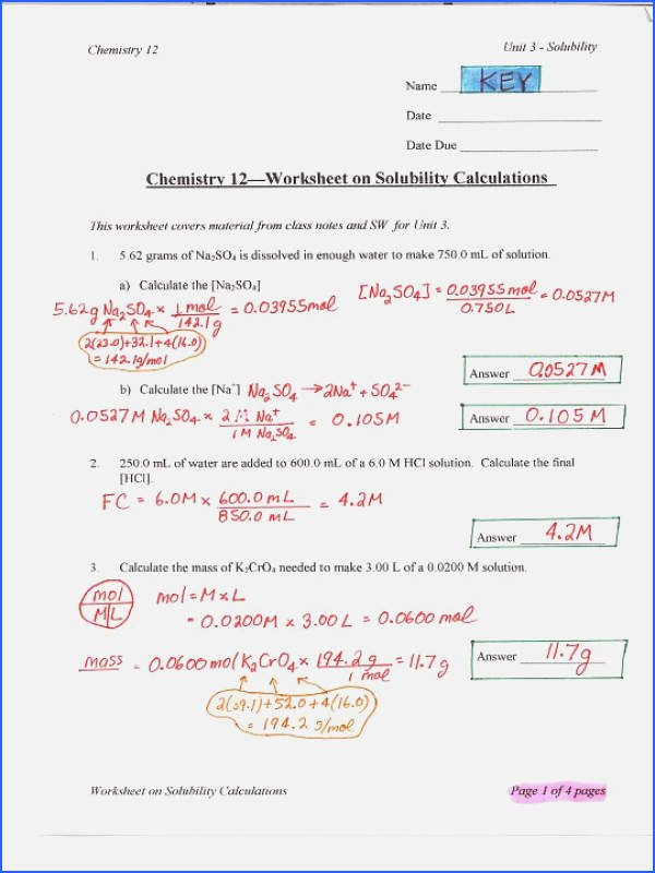 Solubility Graph Worksheet Answers Fresh solubility Curve Worksheet Answer Key