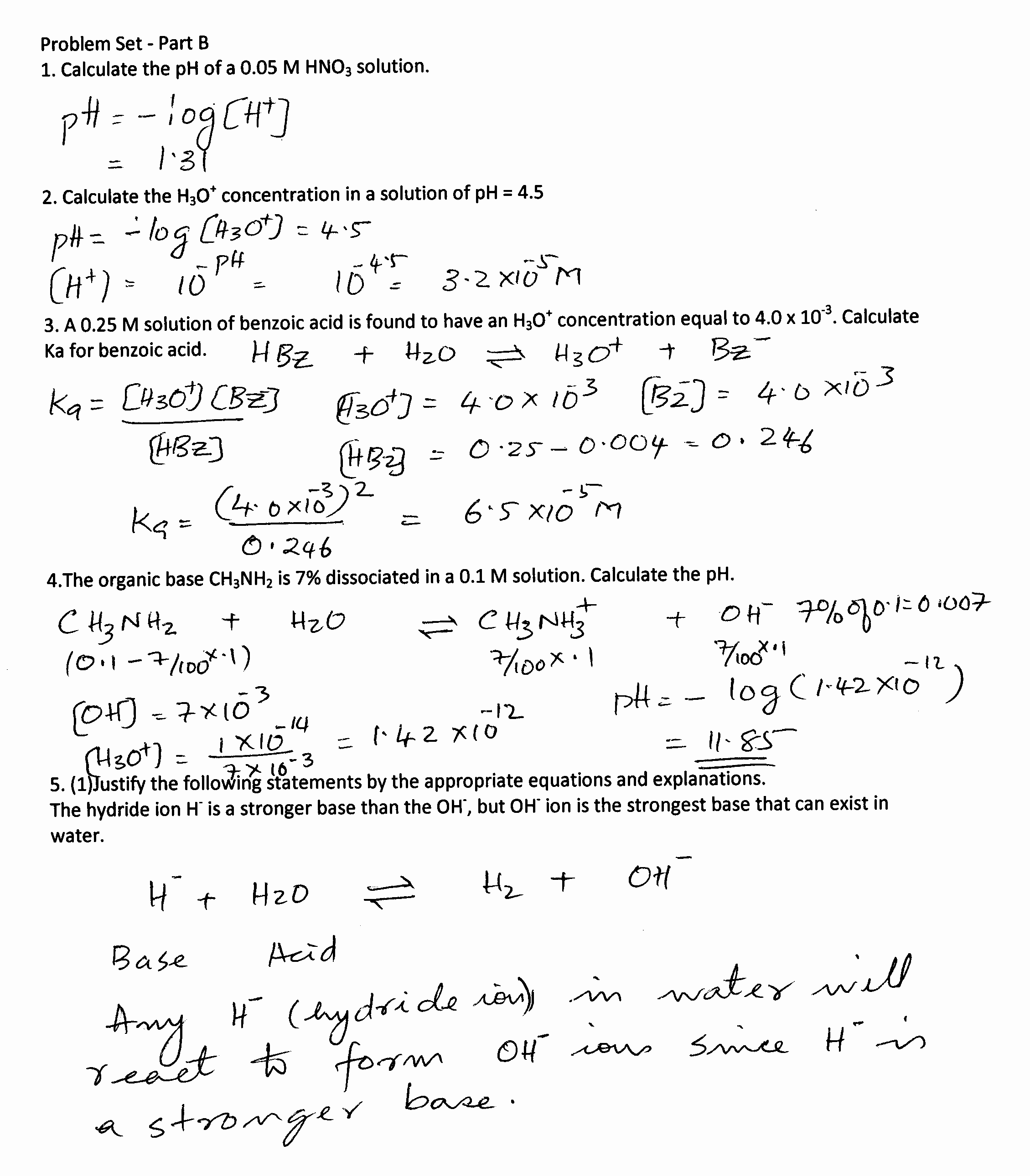 Solutions Acids and Bases Worksheet Lovely solution Acid Base Part B – Stan S Page