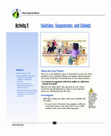Solutions Colloids and Suspensions Worksheet Awesome Suspense Lesson Plans & Worksheets Reviewed by Teachers