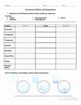 Solutions Colloids and Suspensions Worksheet Elegant Ipdf Worksheets