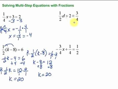 Solve 2 Step Equations Worksheet Elegant Lesson 7 3 solving Multi Step Equations with Fractions