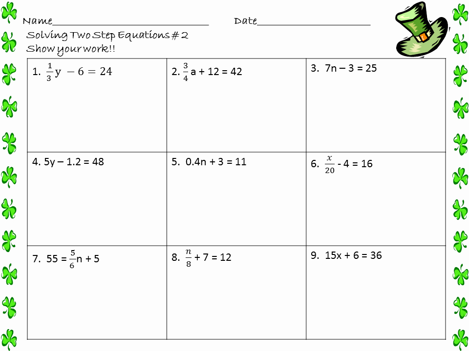 Solve 2 Step Equations Worksheet Fresh solving 2 Step Equations Worksheet the Best Worksheets