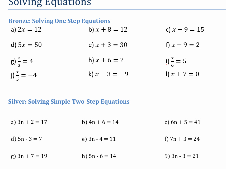 Solve 2 Step Equations Worksheet Luxury Introduction to solving Equations by Zlescrooge