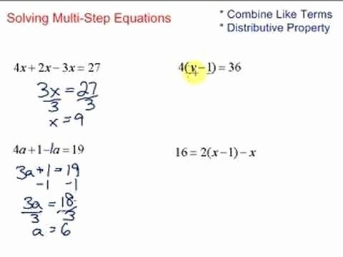 Solve 2 Step Equations Worksheet Luxury Lesson 7 2 solving Multi Step Equations