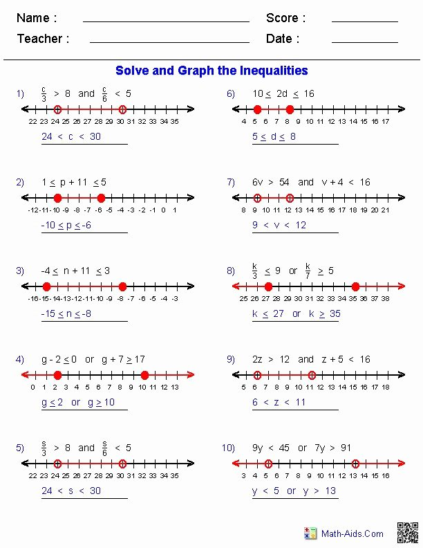 Solve and Graph Inequalities Worksheet Luxury Över 1 000 Bilder Om Math Aids På Pinterestordproblem