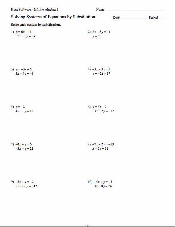Solve by Elimination Worksheet New Homework assignments Semester 2