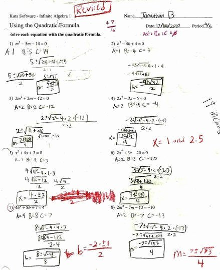 Solve by Factoring Worksheet Beautiful solving Quadratic Equations by Factoring Worksheet