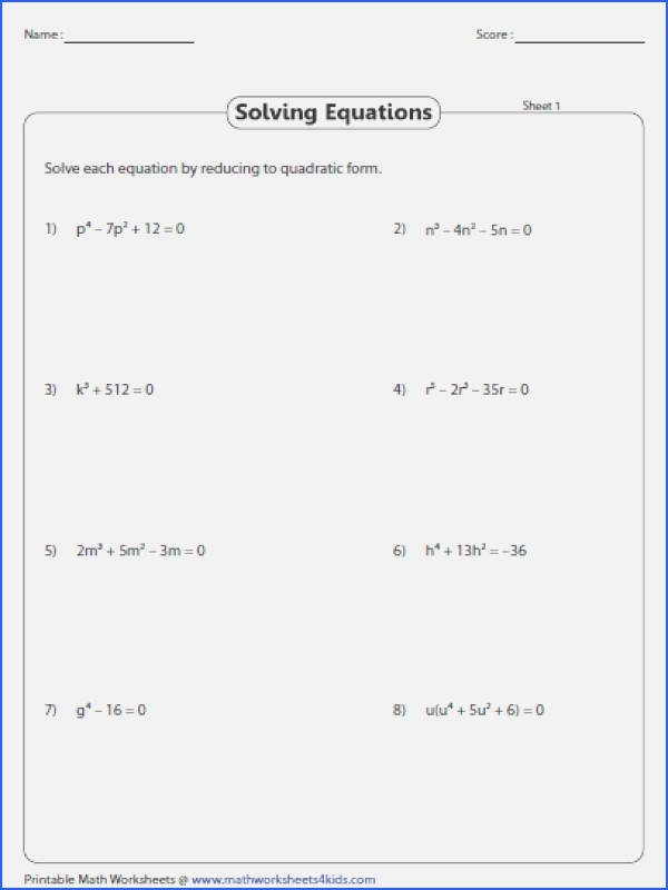 Solve by Factoring Worksheet Lovely solving Quadratics by Factoring Worksheet