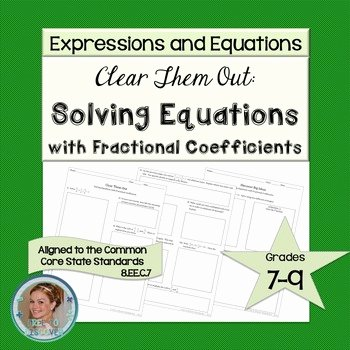 Solve Equations with Fractions Worksheet Beautiful solving Linear Equations Discovery Worksheet & Reflection