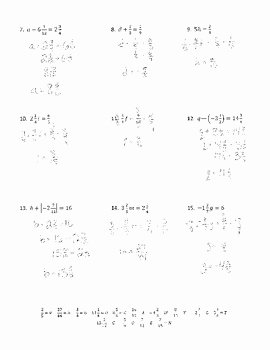 Solve Equations with Fractions Worksheet Best Of solving E Step Equations with Fractions Joke Worksheet