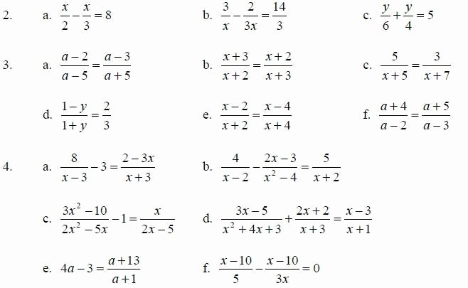 Solve Equations with Fractions Worksheet Fresh solving Equations with Fractions Worksheet the Best