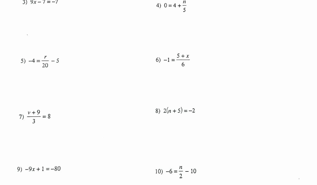 Solve Equations with Fractions Worksheet Fresh solving Equations with Variables Both Sides with