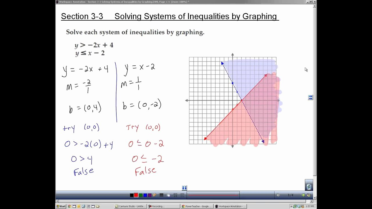 Solve Linear Inequalities Worksheet Fresh Algebra 2 Section 3 3 solving Systems Of Inequalities by