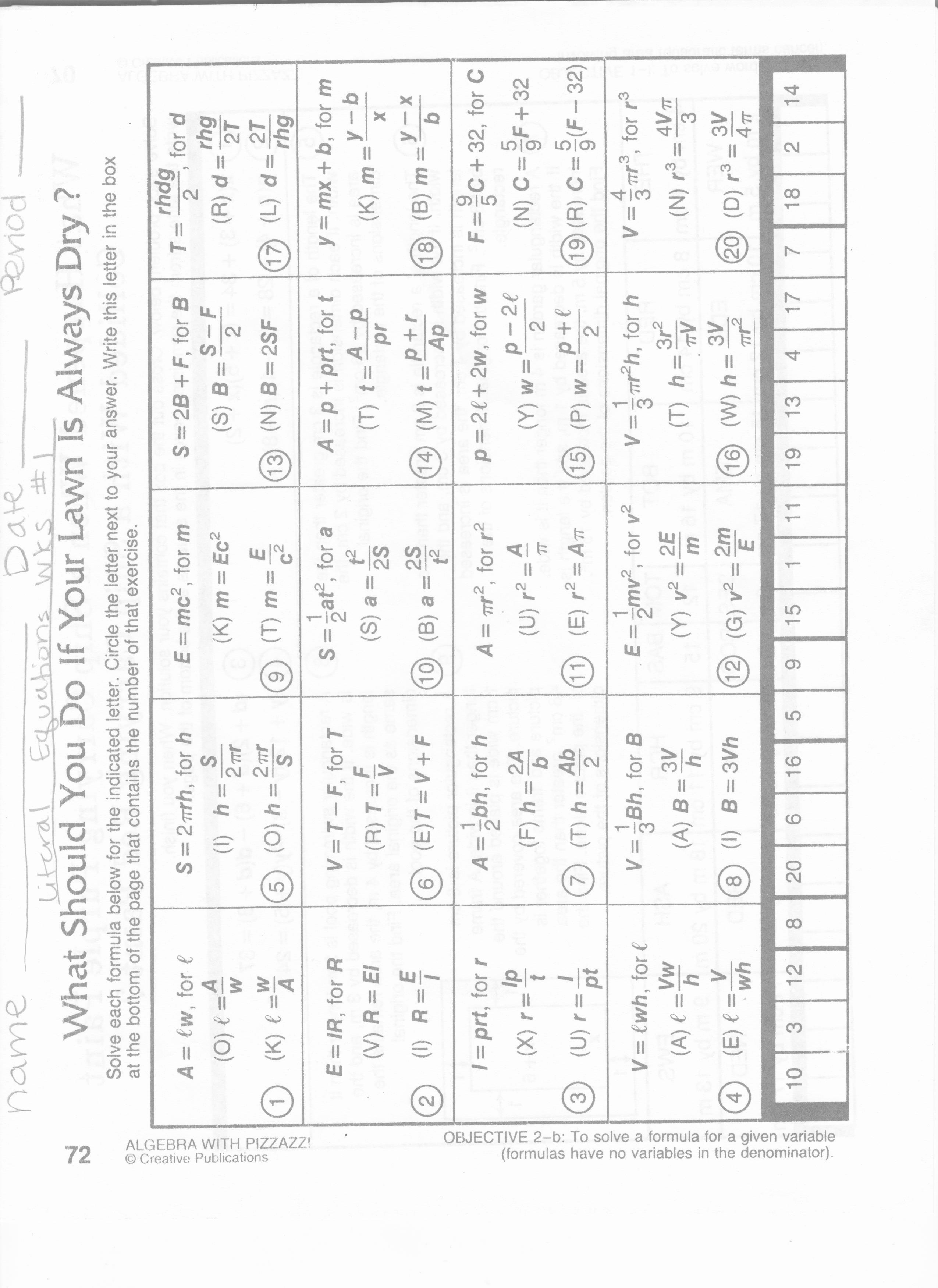 Solve Literal Equations Worksheet Fresh 13 Best Of Literal Equations Worksheet Algebra 2