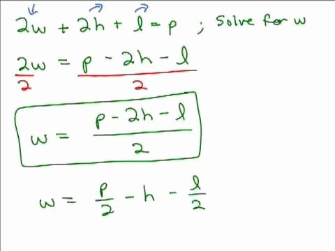 Solve Literal Equations Worksheet Unique solving Literal Equations Part 1