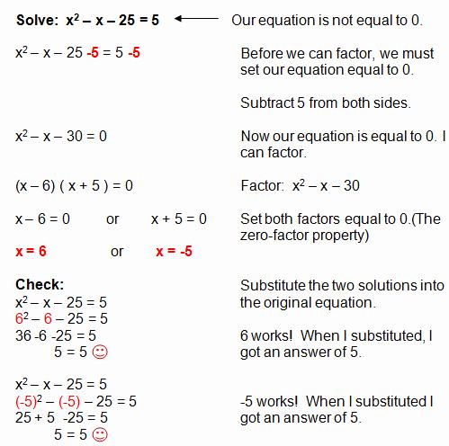 Solve Quadratics by Factoring Worksheet Best Of Factoring Quadratic Equations