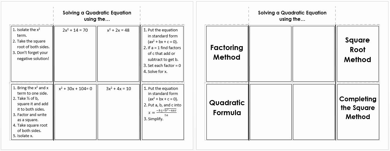 Solve Quadratics by Factoring Worksheet Elegant Factoring