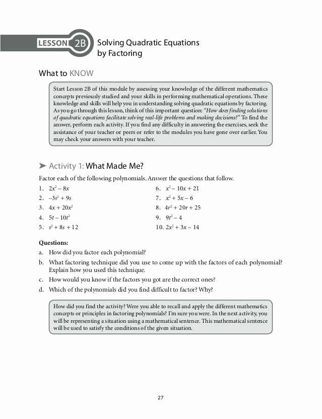 Solve Quadratics by Factoring Worksheet Unique Factoring by Grouping Worksheet Algebra 2 Answers