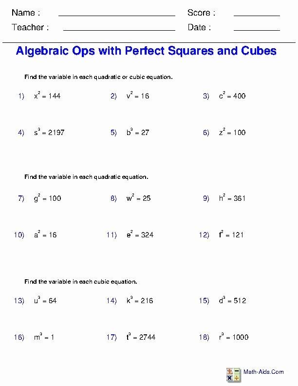 Solve Radical Equations Worksheet Awesome solving Radical Equations Worksheets