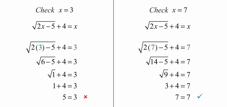 Solve Radical Equations Worksheet Elegant solving Radical Equations Practice Problems solving