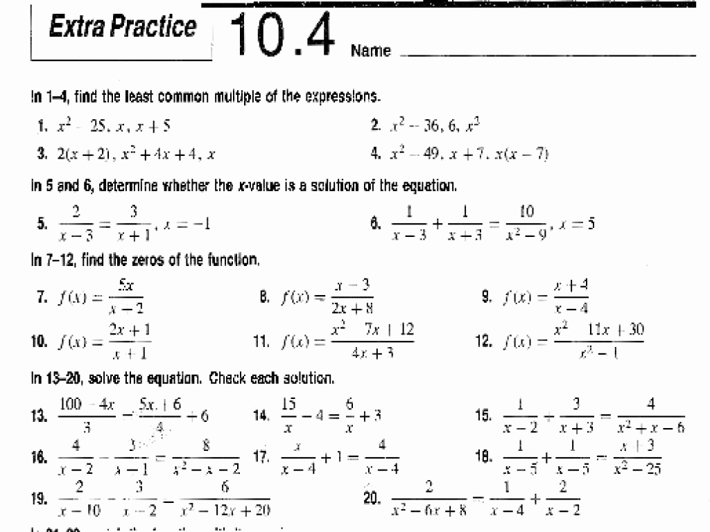 Solve Radical Equations Worksheet Lovely solving Radical Equations Worksheet Answer Key Algebra 1