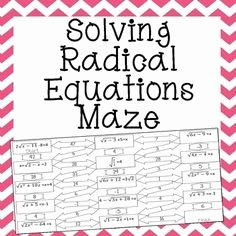 Solve Radical Equations Worksheet Luxury 1000 Images About Radicals On Pinterest