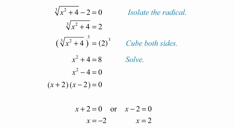 Solve Radical Equations Worksheet Luxury Elementary Algebra V1 0