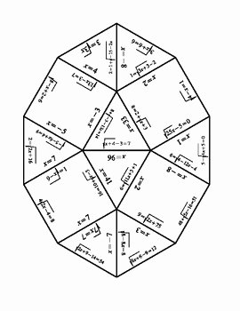 Solve Radical Equations Worksheet New solving Radical Equations Puzzle Algebra