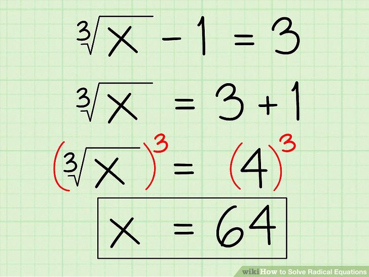 Solve Radical Equations Worksheet Unique How to solve Radical Equations 12 Steps with