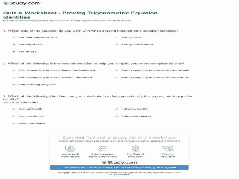 Solve Trig Equations Worksheet Awesome solving Trigonometric Equations Worksheet