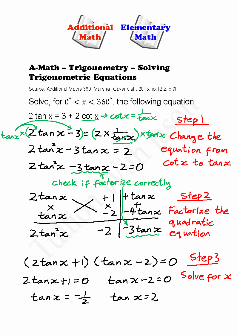 Solve Trig Equations Worksheet Inspirational A Math Trigonometry solving Trigonometric Equations 2