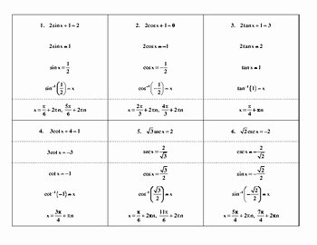 Solve Trig Equations Worksheet Inspirational Steps In solving Basic Trig Equations by Mathematics