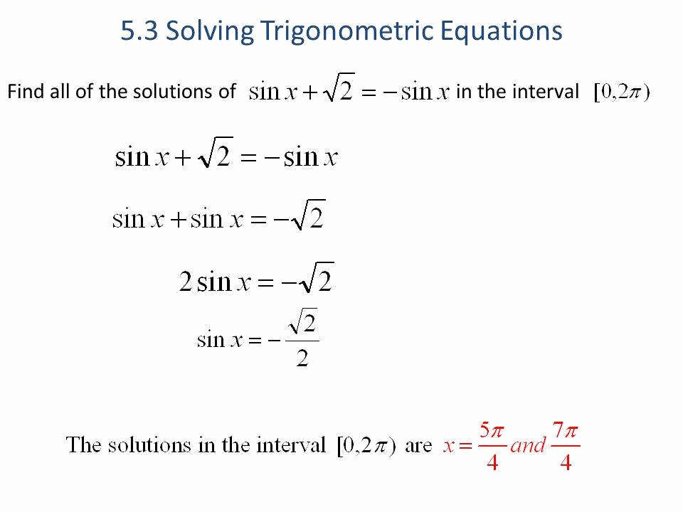 Solve Trig Equations Worksheet New solving Trigonometric Equations Worksheet
