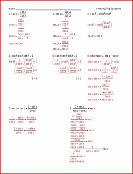 Solve Trig Equations Worksheet Unique Trig Identities Simplify Verify solve Ws by Rita
