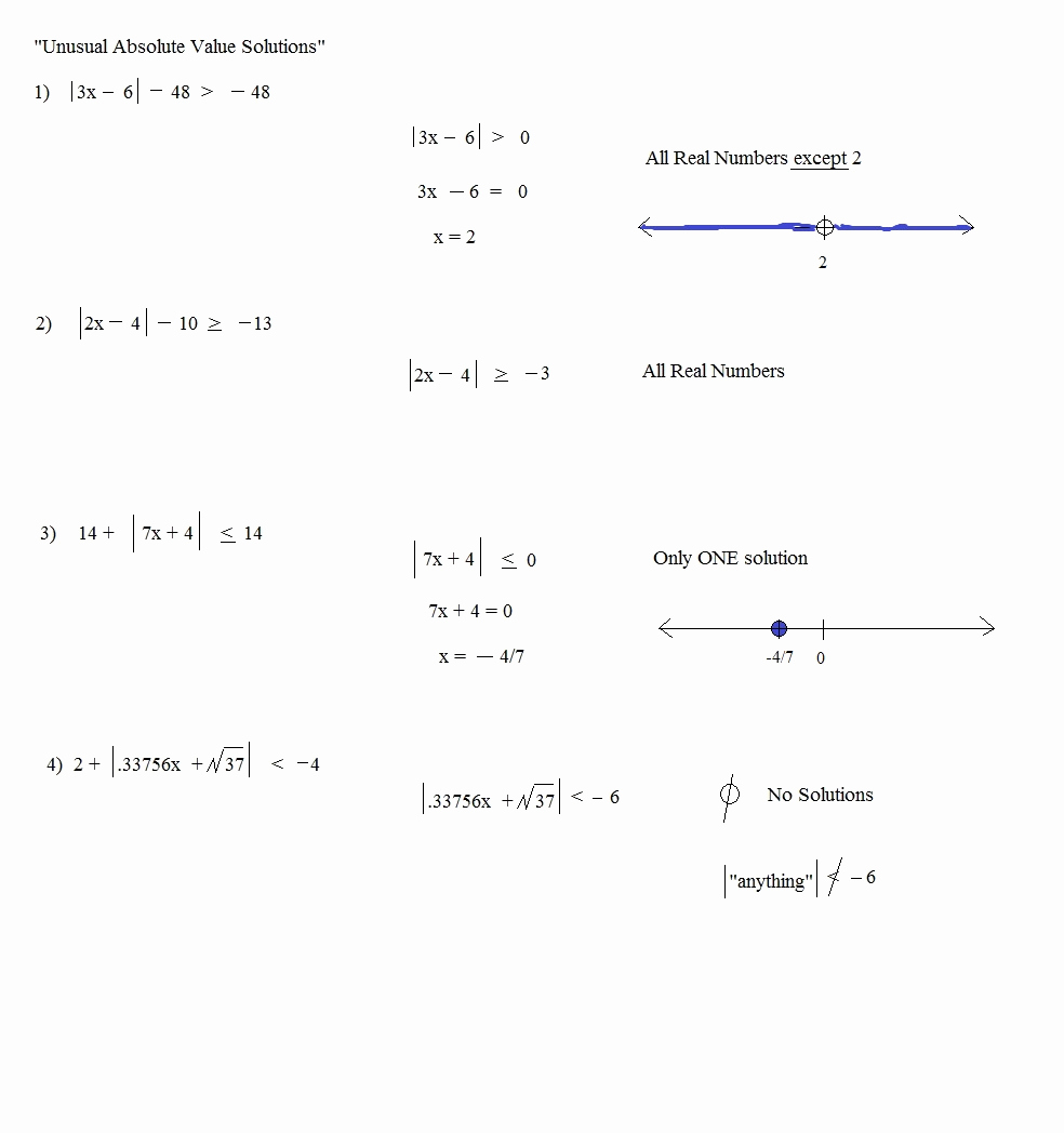 Solving Absolute Value Equations Worksheet Elegant Math Plane Absolute Value and Inequalities