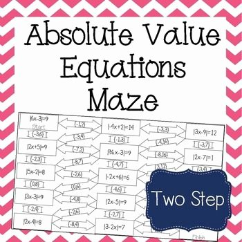 Solving Absolute Value Equations Worksheet Inspirational Absolute Value Equations Maze