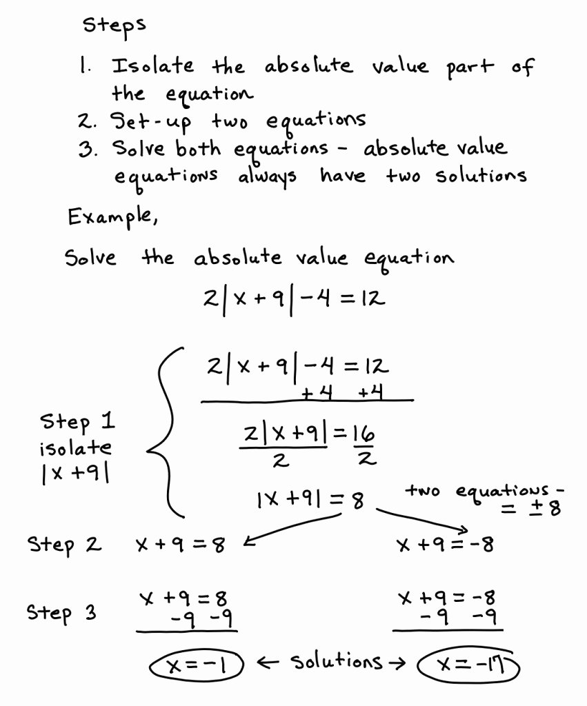 Solving Absolute Value Equations Worksheet New solving Absolute Value Equations with Extraneous solutions