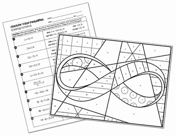 Solving Absolute Value Inequalities Worksheet Best Of Absolute Value Inequalities Coloring Activity Includes