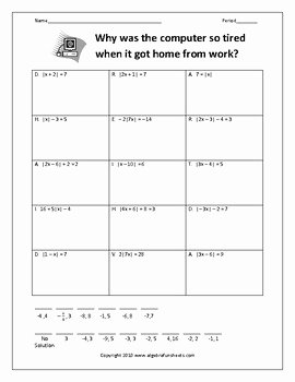 Solving Absolute Value Inequalities Worksheet Best Of solving Absolute Value Equations Worksheet by Algebra