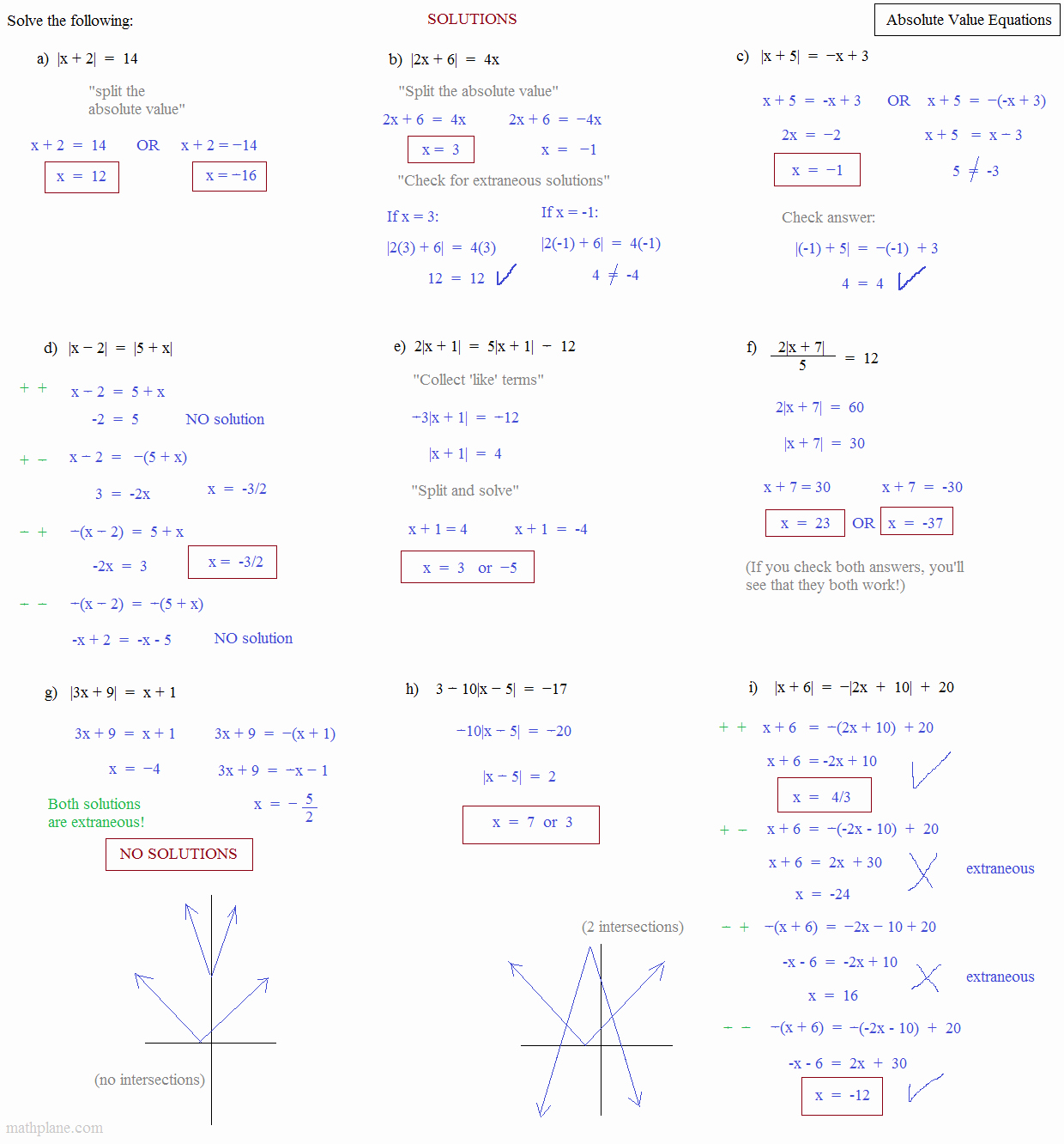 Solving Absolute Value Inequalities Worksheet Lovely Math Plane Absolute Value and Inequalities