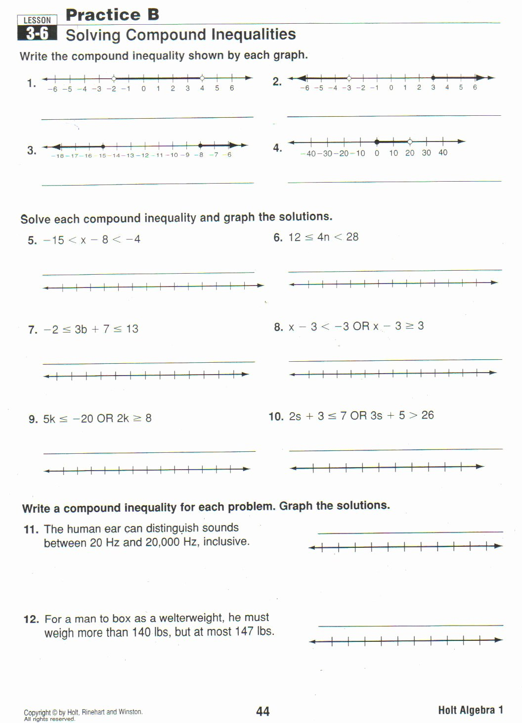 Solving Compound Inequalities Worksheet Awesome Learning Experience