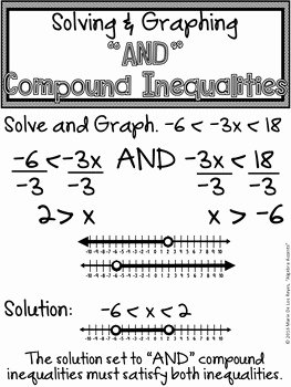 Solving Compound Inequalities Worksheet Awesome solve and Graph Pound Inequalities Interval Notation